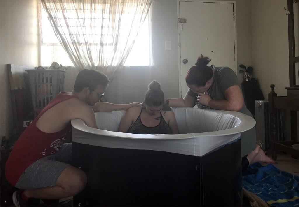 Birthing pool setup at home
